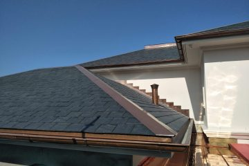 Copper flashings and copper rainwater goods