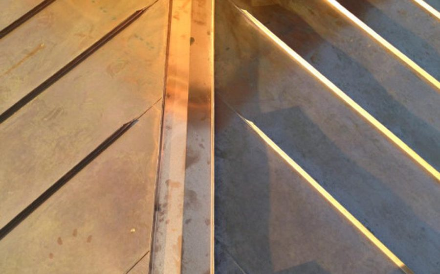 copper double ridge detail