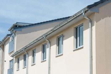 zinc gutter and down pipes